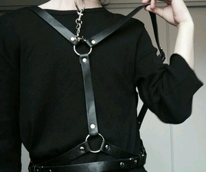 leather, harness, and kink image
