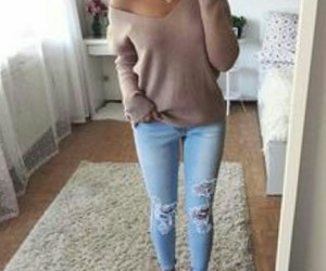 body, jean, and photo image