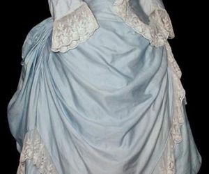 blue, bustle, and dress image