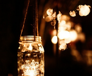 light, candle, and night image
