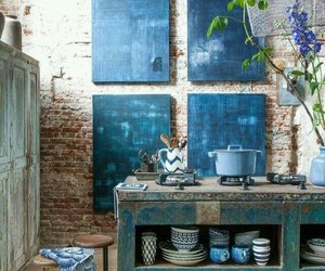 decor, kitchen, and rustic image