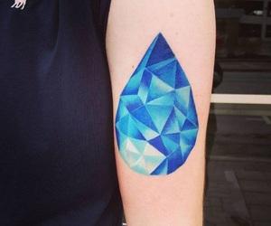 lapis lazuli, blue tattoo, and gem tattoo image