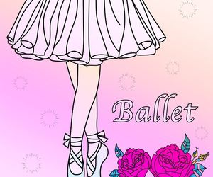 ballet, rainbow, and effect image