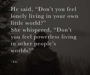 quotes, lonely, and people image