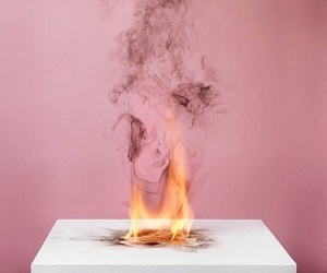 fire, pink, and aesthetic image