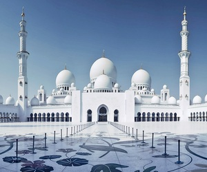 abu dhabi, white, and mosque image