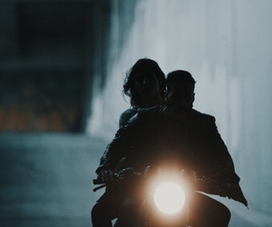 aesthetic, motorcycle, and night image