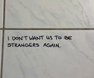 strangers and love image