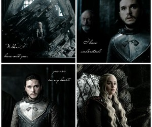 game of thrones, jon snow, and daenerys targaryen image