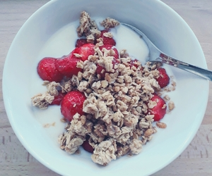 breakfast, yoghurt, and food image