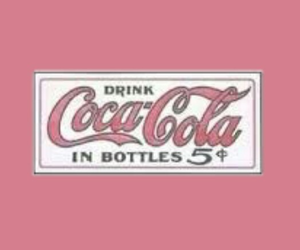 coca cola, pink, and theme image