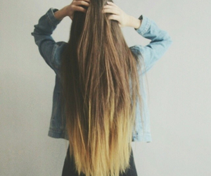hair ombre long straight image