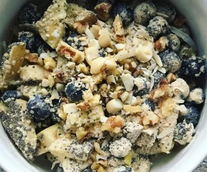 blueberries, vegan, and food image