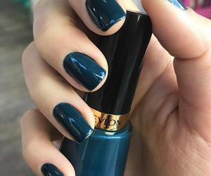Bleu, ongles, and vernis image