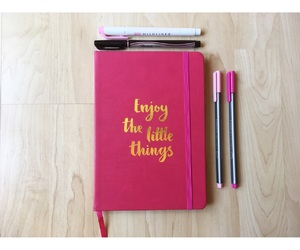 colorful, gold, and notebook image