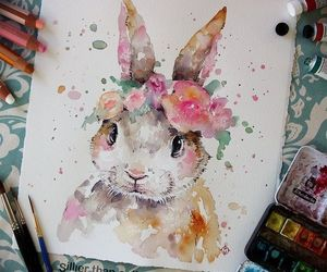 animals, art, and bunny image