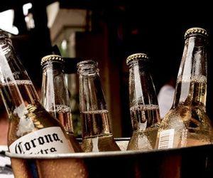 beer, bottle, and corona image