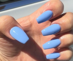 blue, blue nails, and style image