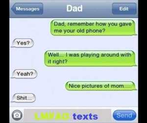 text and funny image