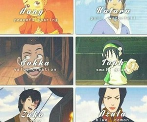 anime, toph, and aang image