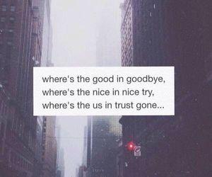 the script, goodbye, and Lyrics image