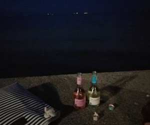 alkohol, night, and summer image