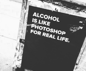 alcohol, quotes, and grunge image