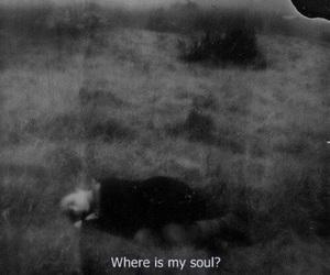 soul, sad, and black and white image