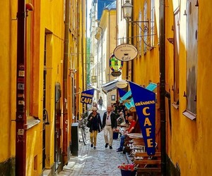 old town, places, and stockholm image