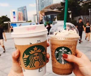 aesthetic, city life, and coffee image