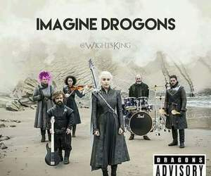 game of thrones, funny, and imagine dragons image