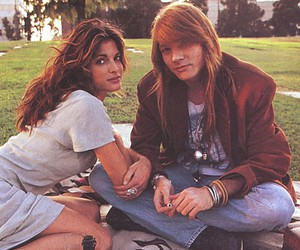 axl rose, Guns N Roses, and Stephanie Seymour image