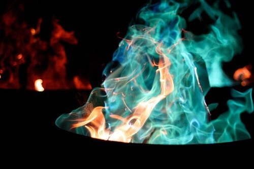 fire, blue, and photography image