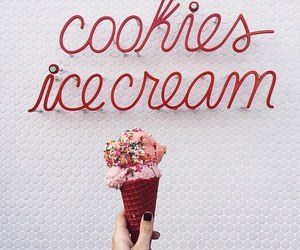 ice cream, food, and red image