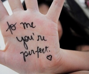 perfect, hand, and quotes image