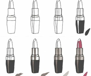 drawing, lipstick, and lippenstift image