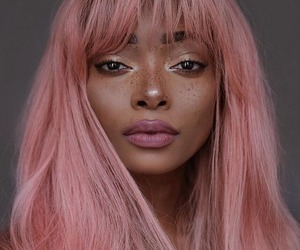 pink, beauty, and hair image