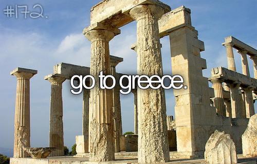 Greece, travel, and bucket list image