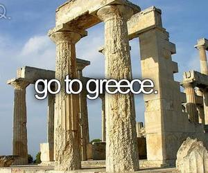 Greece, travel, and bucket list image