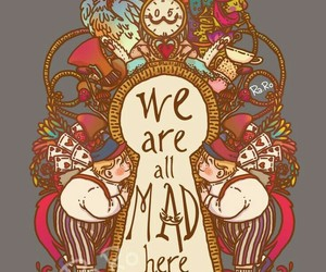 alice in wonderland, quotes, and wallpaper image