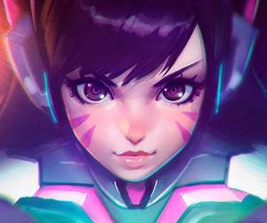 overwatch, anime, and d.va image