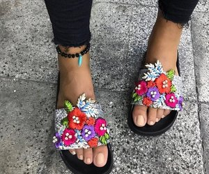 girls, sandals, and simple image