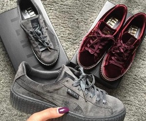 girls, puma, and shoes image