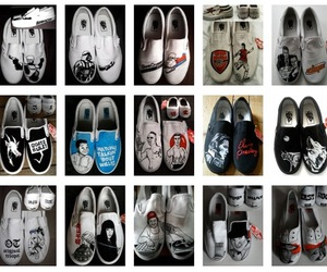 customized, shoes, and vans image