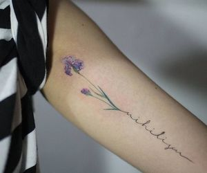purple, small, and tattoo image