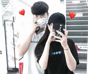 couple, korea, and korean image