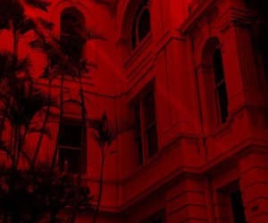 building, photography, and red image