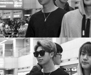 black and white, kpop, and boy image