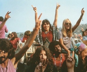 peace, hippie, and festival image
