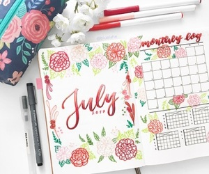 july, notes, and planner image